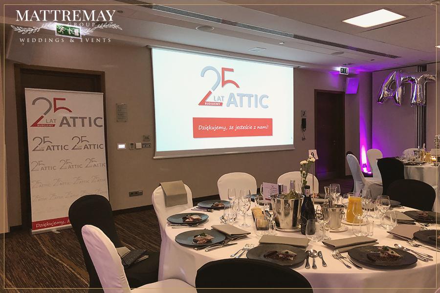 Impreza firmowa 25-lecie firmy Attic Kraków